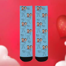 Load image into Gallery viewer, Custom Funky Gift Carry Your Girlfriend Face Socks