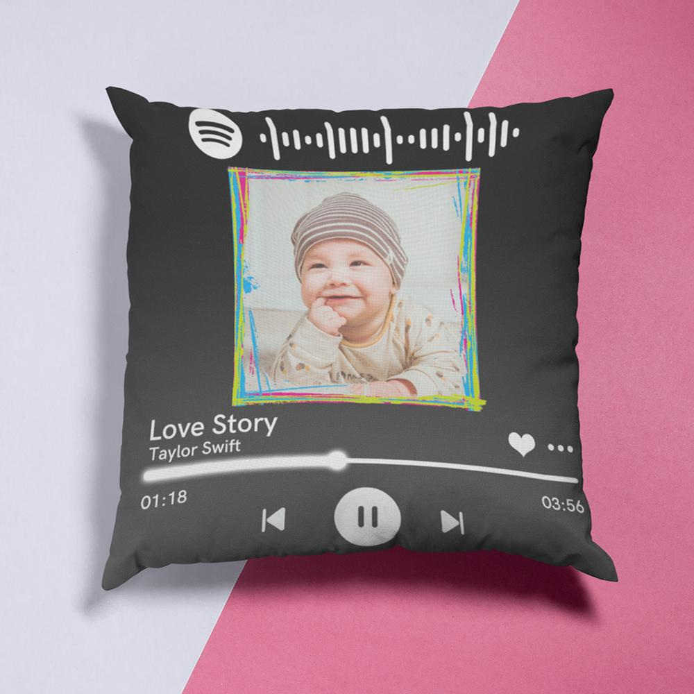 Custom Spotify Decor Photo Throw Pillow Valentine Gifts Idea 15.75