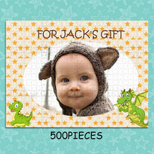 Load image into Gallery viewer, Personalized Photo Jigsaw Puzzle To The Cute Baby - 35-1500 pieces - faceonboxer