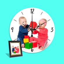Load image into Gallery viewer, Custom Photo Custom Wall Clock Keepsake Gift