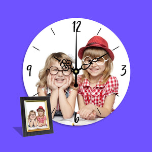 Custom Photo Custom Wall Clock Keepsake Gift