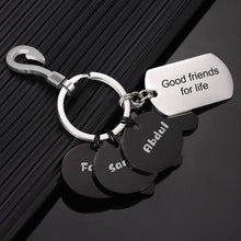 Load image into Gallery viewer, Engraved Little Fish Key Chain With 4 Fish Memorial Gift