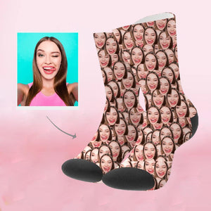 Custom Perfect Gift Face Socks Photo Socks