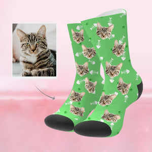 Custom Funky Gift Pet Face Socks
