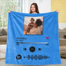 Load image into Gallery viewer, Custom Spotify Code Blankets Personalized Spotify Code Blanket Fleece Blanket 5 Sizes Mother's Day Gift