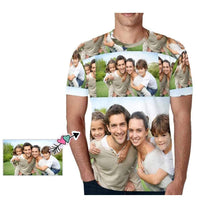 Load image into Gallery viewer, Custom Photo Engraved Face T-shirt