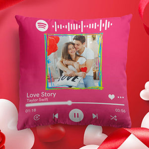 "Custom Spotify Decor Photo Throw Pillow Valentine Gifts Idea 15.75""*15.75"""