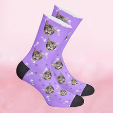 Load image into Gallery viewer, Custom Fish Bone Pattern Pet Face Socks