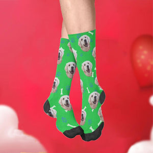 Custom Bones Print Pet Face Socks