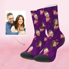 Load image into Gallery viewer, Custom Perfect Gift Heart Print Face Socks
