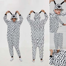 Load image into Gallery viewer, Kigurumi Pajamas Animal Onesie Flannel Cartoon Winter Sleepwear For Adult With Zipper Back Costume