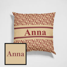 "Load image into Gallery viewer, Classic Custom Name Throw Pillow For Gifts Ideas Personalized Pillow Home Decos 15.75""*15.75"""