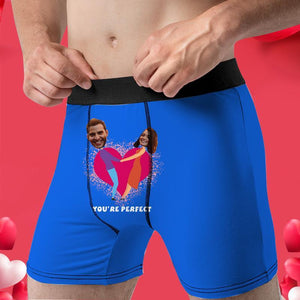 Custom Boxer Faces Men's Panties- You're Perfect