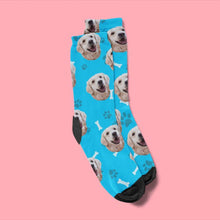 Load image into Gallery viewer, Custom Bones Print Pet Face Socks