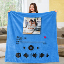 Load image into Gallery viewer, Custom Spotify Code Blankets Personalized Spotify Code Blanket Fleece Blanket 5 Sizes Best Gift for Mom