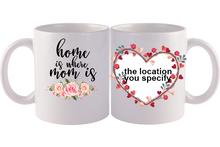 Load image into Gallery viewer, Personalized Mug,Custom Photo Mug,Gift for Mom, Home is Where my Mom is, Happy Mother's Day