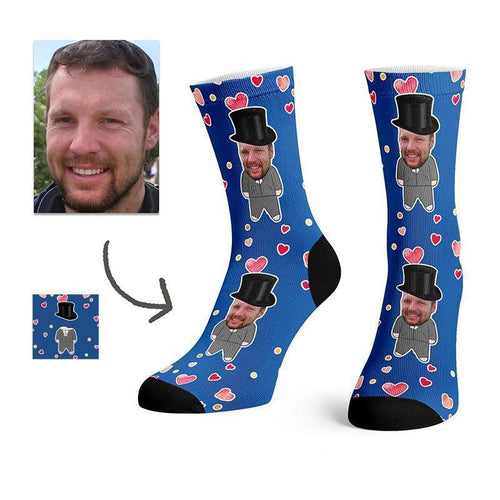 Custom Wedding Socks Groom And Groomsmen -