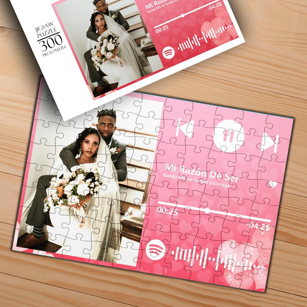 Custom Scannable Spotify Code Photo Jigsaw Puzzle Best Personalized Gift Song Puzzle 120-1000 pieces