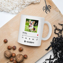 Load image into Gallery viewer, Custom Spotify Album Cover Photo Personalized Song Music Code Mug,Magic Heat Color Changing Coffee Mugs, Anniversary Gift, Gift for Boyfriend / Girlfriend, Valentine's Day Gift