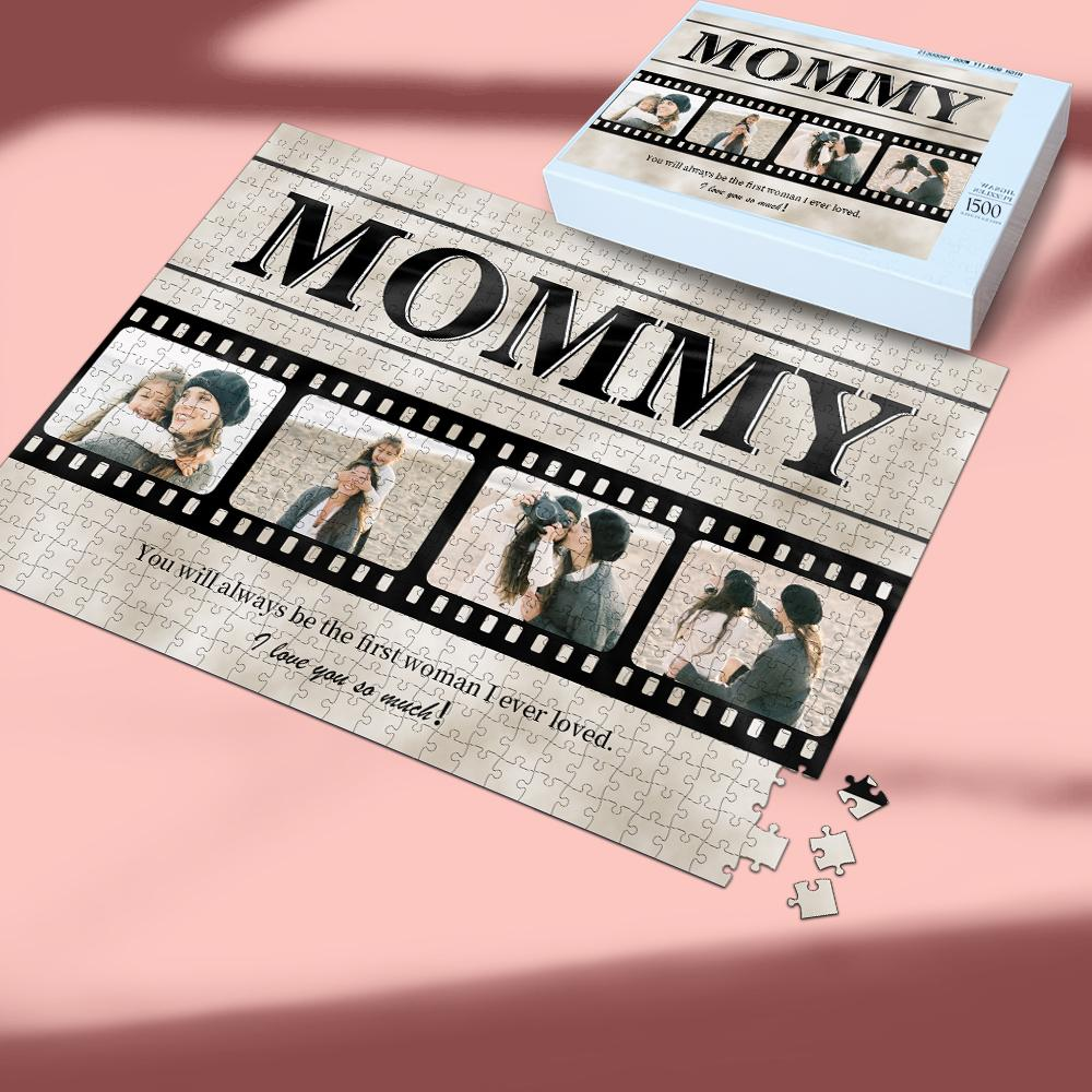 Personalized Photo Jigsaw Puzzle For Mommy- 35-1000 pieces