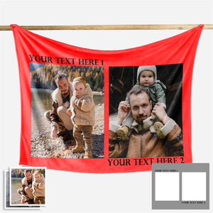 Family Love Personalized Photo Fleece Blanket - New - faceonboxer
