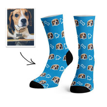 Load image into Gallery viewer, Custom Dog Pet Photo Socks -