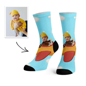 Custom Cute Baby Face Socks -