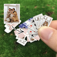 Load image into Gallery viewer, Custom Made Poker Cards Mini Traveling Deck Playing Cards