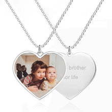 Load image into Gallery viewer, Women's Printing Photo Locket Heart Necklace Platinum Plated - faceonboxer