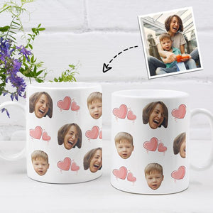 Personalized Mug,Custom Photo Mug,Gift for Mom,Full of Heart