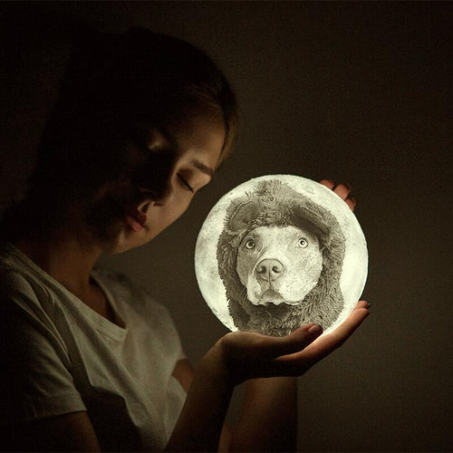 Family Gift Engraved Photo Moon Lamp - faceonboxer