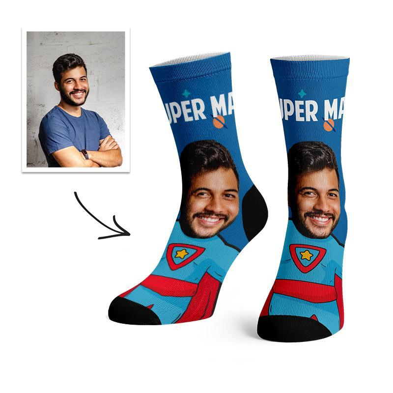 Custom Super Hero Face Socks -