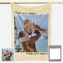 Load image into Gallery viewer, Family Love Personalized Photo Fleece Blanket - New - faceonboxer