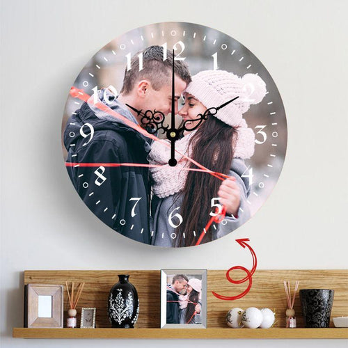 A Meaningful Gift Custom Photo Custom Wall Clock Keepsake Gift - faceonboxer