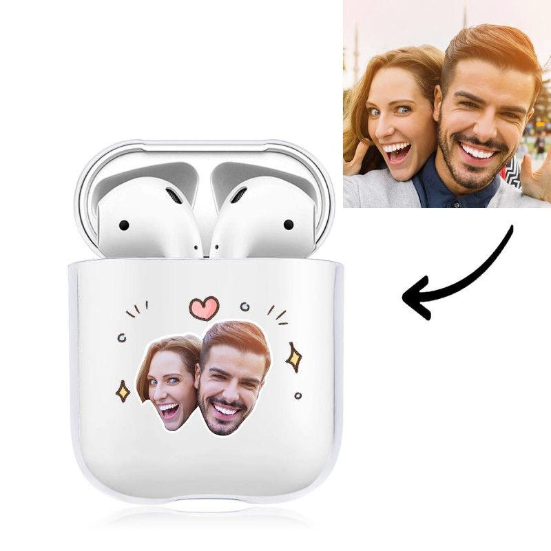 Custom Photo AirPods Case Couple's Keepsake Gift Earphone Case Transparent