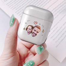Load image into Gallery viewer, Custom Photo AirPods Case Couple's Keepsake Gift Earphone Case Transparent