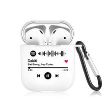 Load image into Gallery viewer, Scannable Custom Spotify Code Airpods Case Music Keepsake Gift For Couple Black