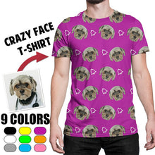 Load image into Gallery viewer, Custom Face Photo Crazy Face T-shirt, Unisex funny T-shirt, Black/White T-shirt, Cute pet T-shirt