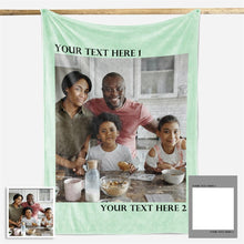 Load image into Gallery viewer, Family Love Personalized Photo Fleece Blanket With 1-4 Photos- New - faceonboxer