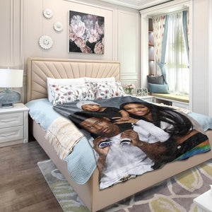 Custom Family Photo Blanket with Your Photo