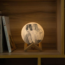 Load image into Gallery viewer, Christmas Memorable Gift Engraved Photo Moon Lamp - faceonboxer