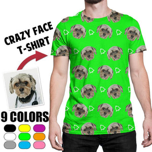 Custom Face Photo Crazy Face T-shirt, Unisex funny T-shirt, Black/White T-shirt, Cute pet T-shirt