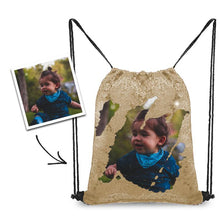 Load image into Gallery viewer, Personalized Sequins Backpack with Photo of Baby