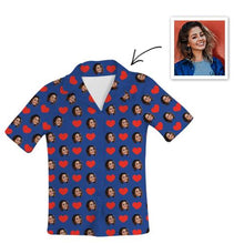 Load image into Gallery viewer, Custom Photo Pajamas Short Sleeved Pajamas , Home Wear , Unisex-Top Only