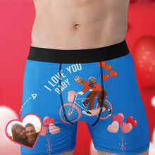 Load image into Gallery viewer, Custom Boxer Faces Men's Panties- I Love You Baby
