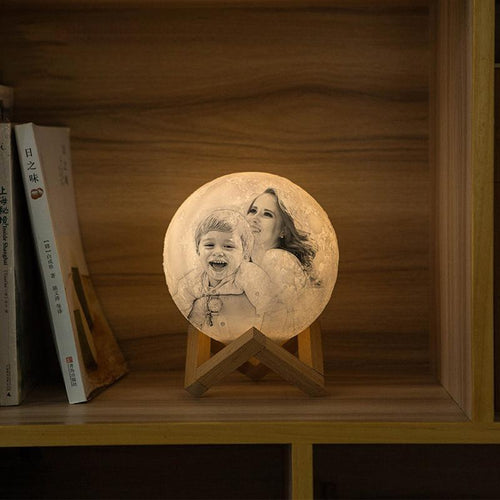 Christmas Memorable Gift Engraved Photo Moon Lamp - faceonboxer