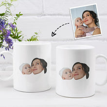 Load image into Gallery viewer, Personalized Mug,Custom Photo Mug,Gift for Mom,Mom and Baby Face