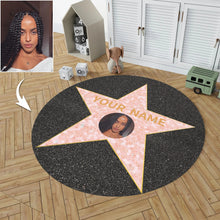 Load image into Gallery viewer, Custom Name And Photo Round Carpet,Hollywood Walk of Fame Star Carpet