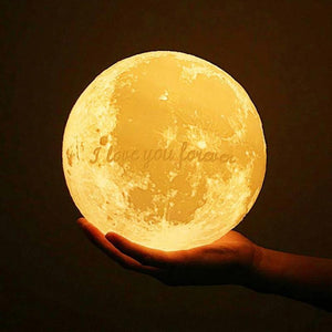 Touch 3 Colors - Christmas Cute Gift Engraved Photo Moon Lamp - faceonboxer