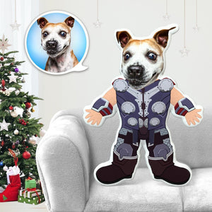Dog Photo Pillow Dog Face Pillow Personalized Dog Pillow Custom Dog Pillow Dog Picture Pillow Thor Costume MiniMe Dog Costume Pillow Doll